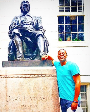 Exavier P. at Harvard for a summer 2014 engagement.