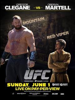 The Mountain:Oberyn the Red Viper::Nikolaj:Me.  More or less.